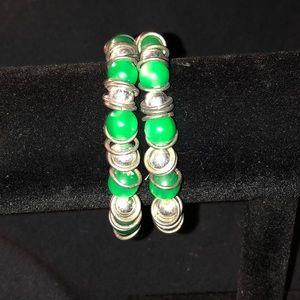 Jewelry - 🆕💚Stylish Stretchy Green Bracelet💚NWT